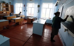 Rural secondary school in southern Russia