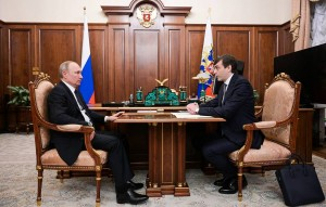 Russia's President Putin meets Minister of Education Sergei Kravtsov