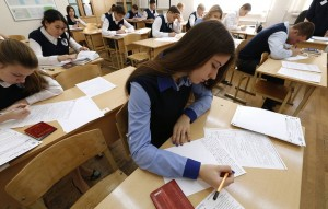 Russia's final-year secondary school students take preliminary exam in literature