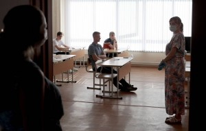 Students take Unified State Exam in maths at Yekaterinburg's secondary school No 65