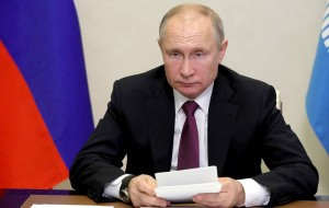 Russian President Putin takes part in meeting of Council of CIS Leaders