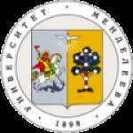 Логотип учреждения (Российский химико-технологический университет имени Д.И. Менделеева)